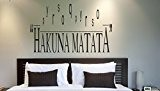 Hakuna Matata Vinyl Wall Art Sticker Quote - 4 sizes & 16 colours - bed16 (2 - Medium 60 x ...