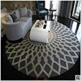 Hall de salle de bain Tapis de sol Tapis Tapis Nordic Mode Noir et blanc rond Tapis Table basse de ...