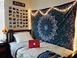 Handicrunch Hippie ETOILES tapisseries, Tapisserie psychédélique, soleil et lune Tapisserie, Tapisseries étoiles mandala, Jeter couvre-lit Queen Bed Dorm Decor