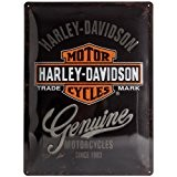 Harley-Davidson Plaque en métal MOTOR CYCLES, 40 x 30 cm