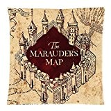 Harry Potter Marauders Map (Carte du Maraudeur) Vintage Taie d'oreiller Housse de coussin