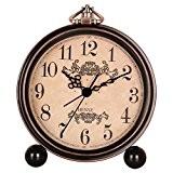 Hense 12,7cm rétro classique ancien Motif décoratif de style européen Horloge de cheminée Sweep Second Mouvement à quartz Cadre en ...