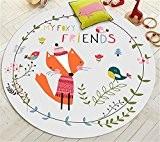 Hollwald Jolis Tapis Carpette Enfant Rond Elephant Renard Renard et les amis Carrousel Raton laveur Rectangulaire Antidérapant Charmante et élégante ...