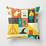 Home Linen Style Housse de coussin coussin coton Harry Potter - 45 X 45 cm à Design carré