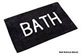 Homescapes – Tapis de bain Noir BATH – 50 x 80 cm – 100% Coton