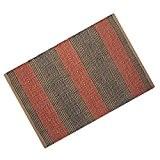 Homescapes Tapis décoratif à rayures orange et marronde 60 x 100 cm en 100% Jute avec des franges fait à ...