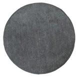 Homescapes Tapis décoratif rond couleur Gris 150 cm de diamètre en 100% Coton