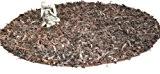 Homescapes Tapis MODERNE (150cm) DECORATION. Homescapes Tapis rond en cuir authentique et poils longs. Couleur CHOCOLAT