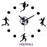 Horloge DIY football silencieux murale horloge miroir acrylique matière 30 * 30cm-YU&XIN