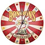 "Horloge métal reliéfé ""Bonbons gourmands"" - Natives"
