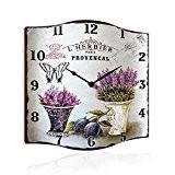 Horloge murale déco le modèle 34 x 34 cm-'L'Provencal'Herbier