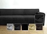 Housse de canapé Ambivelle, housse stretch biélastique, revêtement de canapé, pour de nombreux canapés 3 places courants, anthracite