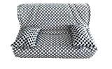 Housse matelassée pour banquette clic clac 140 x 190 JACQUARD LEGO- dos non recouvert