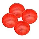 Hrph 4pcs 4 pouces Style Chinois Lanternes Papier pour Décoration de Soirée Mariage Salle de Réunion Mall