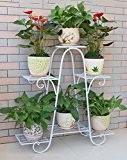 HZA 6 Pot Fleur Cadre De Fer, 6-couches Fleur Racks Pour Dépenser Un Simple De Style Européen De Haute Qualité ...