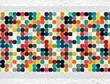 I-love-Wandtattoo Sticker mural B de 10141Frise Pois Salon Cuisine Chambre Décoration Décoration murale sticker mural stickers muraux sticker mural - ...