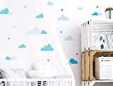 I-love-Wandtattoo Sticker mural CE Kit de 10214Chambre Sticker mural nuages bleue avec visages de 30à coller Sticker mural Sticker mural ...