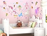 """I-love-wandtattoo-wAS 10029 stickers muraux pour chambre d'enfant motif fées et moi licornes """"- sticker mural autocollant, XL"""