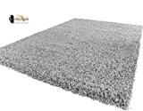 I-revive ® doux épais Shaggy Gris argenté moderne épais tapis Taille 120x 170cm