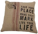 Ian Snow Housse de coussin avec inscription Take Your Place