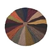 Ian Snow Tapis rond en forme de roue