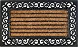 ID Mat 4575 Coral 85016 Rectangulaire Naturel Tapis Paillasson Fibre Coco/Caoutchouc Beige 75 x 45 x 1,8 cm