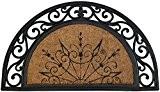 ID Mat 4575 Coral Demi Lune 85031 Naturel Tapis Paillasson Fibre Coco/Caoutchouc Beige 75 x 45 x 1,8 cm
