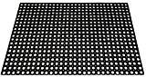 ID Mat M10 Caillebotis Caoutchouc Noir 120 x 80 x 1,7 cm