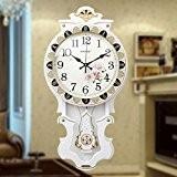 Idées de salon de style européen rock horloge murale/ mute chambre horloge bois massif-A 16pouce