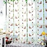 Iiou Beau Broderie rétro Country Style Papillon Rideau Décoration Maison
