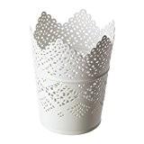 IKEA SKURAR - Bougeoir, blanc - 11 cm