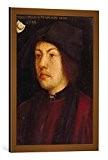 """Image encadrée: Hans Burgkmair der Ältere """"Bildnis des Martin Schongauer"""" - impression d'art décorative, en cadre de haute qualité, 50x70 ..."""