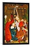 """Image encadrée: Martin Schongauer """"Kreuzabnahme. Dominikaner-Altar, Innen- Tafel"""" - impression d'art décorative, en cadre de haute qualité, 40x55 cm, Noir ..."""