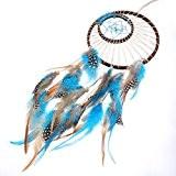maDDma /® Attrape-r/êves Indien 35/x 60/cm avec filet color/é et plumes de diff/érentes couleurs