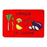 Incidence 51185 Tapis de cuisine Silence je cuisine Rouge Nylon et latex anti-dérapant