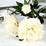 Ineternet 1 Bouquet 3 Têtes Artificiel Faux Grande pivoine Tissu + Plastique fleur Bridal Bouquet mariage partie Décoration de maison ...