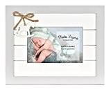 Innova PI07391 Cadre Photo Bois, Collection Enfant, 10x15 cm Baby Amore Bois Gris, Blanc 18.5x23.5x1 cm