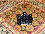 int. d'ailleurs - Porte encens en résine Les trois singes de la sagesse - BTENS071