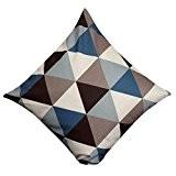 Internet Géométrique canapé lit Home Café Decor taie d'oreiller Carré housse de coussin Coton lin Invisible fermeture à glissière 45cm*45cm ...