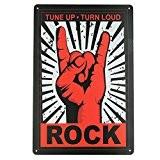 IPEKOO Rock Tin Metal Sign Wall Home Decor Rock Art Bar Pub-12x 8 by Ipekoo