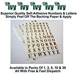 Ivy Stickers autocollants étiquette étiquettes 10mm Taille 140or lettres A-Z (Lot de 1)