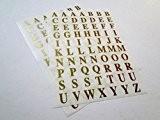 Ivy Stickers autocollants étiquette Lot de 5–10mm Or 140 Lettres A-Z