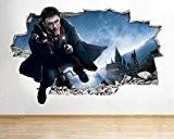 J11Poster Harry Potter New chocs Sticker mural 3D Art Stickers en vinyle (Taille M (52x 52x 30cm))