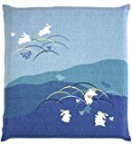 Japanese Buddhist Meditation Cushion Cover (Zabuton) Yoza Tibetan Skipping Rabbit 55~59cm Red