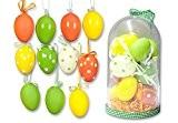 Jeu de 15osterd ekor Communications Kit?: 11Décoration de Pâques à suspendre + 3fleurs + Sisal-herbe, dans une boîte Dôme, Couleur ...