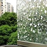Jiazugo 3d sans colle statique de galets décoratifs Privacy Film de fenêtre en verre (45cm*100cm, 1rouleau)