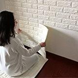 JJQStickers muraux 3D créatif auto adhésif motif papier peint papier peint chambre à coucher décorant le salon TV fond brique ...