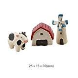 Jolie vache Cartoon Belle Décoration de jardin en résine en forme de personnages pour Pot de fleurs