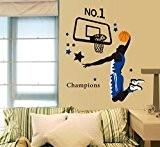 Jouer basket-ball sticker mural amovible Maison en papier peint de Salon Chambre Cuisine Art Images murales décoration de porte de ...