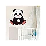 JUJU & COMPAGNIE - Sticker Bébé Panda Orientation - 01-Normal, Dimensions - 40 x 40 cm